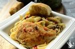 Lemon Chicken Piccata with Linguine